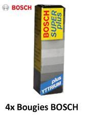 4 Bougies 0242240593 BOSCH Super+ SEAT TOLEDO III 1.6 102 CH