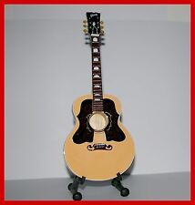 The ROLLING STONES ! GUITARE ACOUSTIQUE MINIATURE de COLLECTION RON WOOD !!