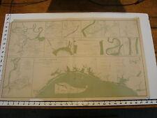 "1891 Civil War Map 18"" X 29"": 10 MAPS IN 1 COAST OF TEXAS, petersburg, etc LXV"