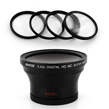 Albinar 58mm 0.43x Wide Angle + Macro Lens + Filter for Canon EOS Rebel T2i T4i