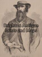 Antique Print 78-007 Bushranger -Daniel Morgan c.1865 Bushrangers