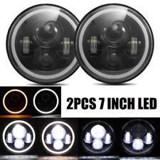2X 7Inch Round 150W Total CREE LED Headlights Hi/Lo 97-18 JEEP JK TJ LJ Wrangler