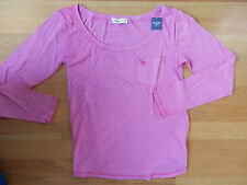NWT  Abercrombie & Fitch Jenny Top Tee Medium Dark Pink