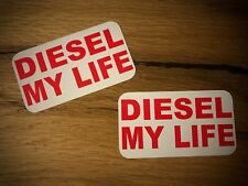 2x DIESEL my Life Aufkleber Rußpartikelfilter Umweltplakette Euro 3 4 5 6   #133