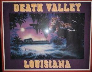 1984 LSU FOOTBALL DEATH VALLEY POSTER REPRINT 18X23 NEW ART RENDITION LSU TIGERS