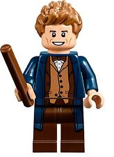 LEGO HARRY POTTER FANTASTIC BEASTS MINIFIGURE NEWT SCAMANDER WIZARD WITH WAND