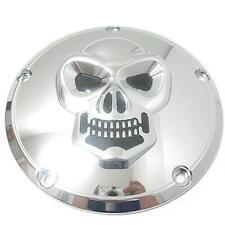 Chrome Skull 5 Hole Derby Cover for 1999+ Harley