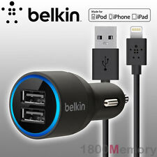 BELKIN Dual USB Port Car Charger 2.1Amp for iPhone 7 7S 6 6S Plus iPad Air 4 3 2