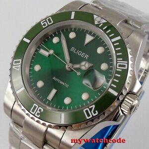 40mm BLIGER green dial ceramic bezel NH35 Automatic mens Watch sapphire glass