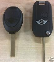 BMW MINI COOPER R50 S ONE 2 TWO BUTTON REMOTE FLIP KEY FOB CASE CONVERSION KIT