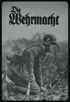 La Wehrmacht Soldat Russie Panneau Métallique Plaque Voûté en Étain 20 X 30 CM