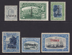 Jamaica. SG 57s,80s,81s,82s,83s & 101s, specimens. Mounted mint.