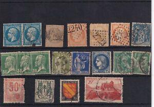 Francia . Ficha con 18 sellos 6 clásicos