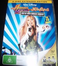 Hannah Montana / Miley Cyrus Best Of Bothe Worlds Live (Reg 4) DVD - Like New