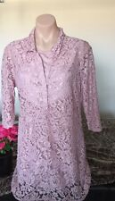 Ladies size 16 Lacey Button through Shirt - Blouse with Top under New RP $40 GR8