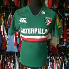 LEICESTER TIGERS 2013 HOME UNION RUGBY SHIRT PRO FIT 7% LYCRA SIZE ADULT L