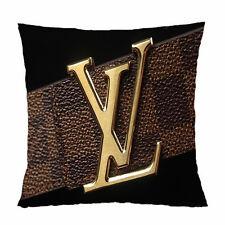 "Louis Vuitton Logo Zippered Pillow Case 20""x 20"" Two Side Printed"