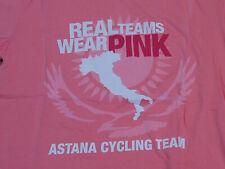 Astana Cycling Team Giro d'Italia T-Shirt Pink New: Size X-Large