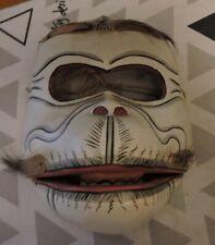 More details for antique original monkey face mask (wood)