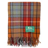 BORDER TWEEDS Picnic Travel Rug Throw Wool Tartan Scottish - Buchanan Antique