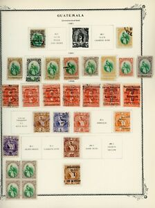 GUATEMALA Scott Specialty Album Page Lot #128 - SEE SCAN - $$$
