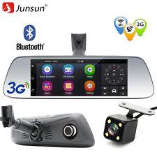"3G 7"" Dual Lens 1080P Android Bluetooth Car Dvr Camera Rearview Mirror Dash Cam"