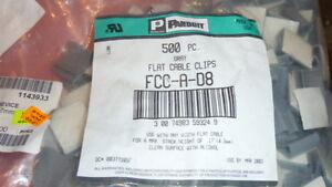 25PCS PANDUIT FCC-A-D8 Cable Mounting & Accessories width FLAT CABLE CLIP Gray