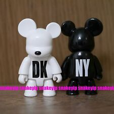 "Toy2R DKNY World Wide Tour VIP White & Black 2.5""Qee Set Card Packing"