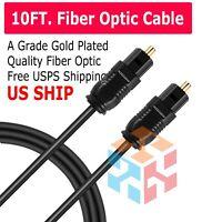 10FT Digital Fiber Optic Audio Cable Cord Optical SPDIF TosLink for TV DVD AMP