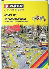 NOCH 60521 H0, Verkehrszeichen, Verkehrsschilder, 270 Zeichen, Neu