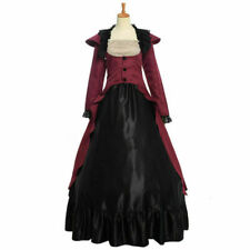 Gothic Victorian Women Dress Bustle Reenactment Costume Ball Gown with Bustle