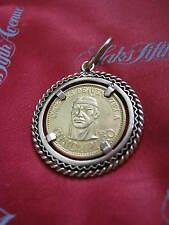 "Cacique de Venezuela GUAICAIPURO 6 Gram 900 Gold ""Coin"" , 18K Bezel Pendant LQQK"