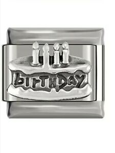 Happy birthday-Charm-Fits Nomination- NEW in Gift Pouch -NC100