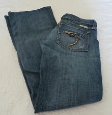 FRANKIE B JEANS FLARE DISTRESS Signature Size 4 distressed