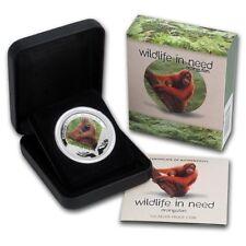 2011 $1 Wildlife in Need Series Orangutan 1oz Silver Proof Coin Perth Mint