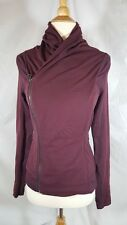 Lululemon Bhakti Jacket Bordeaux Drama Yoga Pilates Thumbholes sz 4