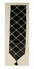 Table Runner Black Velvet Silver Diamond Decor Tassels Wedding Bed Cloth