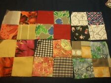 51 Quilt Blocks - 7-1/4 in - 4-Patch - Bold Bright Mix of Fabric MUST SEE