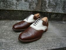 CHEANEY CORRESPONDENT BROGUES – BROWN / IVORY – UK 11.5 – ALEC – VERY GOOD COND