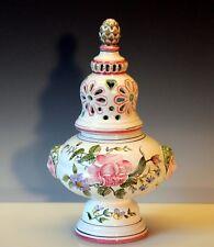 "Moustiers French Faience Pottery Antique Style Potpourri Jar Censor Pierced 11"""