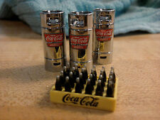DANBURY MINT COCA COLA DIORAMA LOT..1:24..MINT..3 CANISTERS...1 COCA COLA CASE