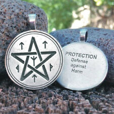 NEW Protection Spell Coin Pendant by Christopher Penczak Deva Designs Pewter