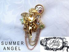 * VINTAGE * Kirks Folly USA * SUMMER ANGEL BROOCH * GOOD Size BROOCH PIN  *