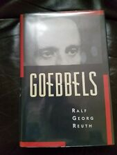 Goebbels Ralf Reuth World War 2 Nazi Hardcover 1st