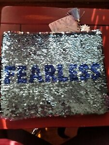 Beautiful Frozen II Elsa Fearless Flip Sequin Pencil Case Pouch 8.2 x 3.9 inches