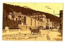 CPA Suisse Orientale Davos kurhaus animé calèche