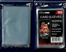 100- Ultra Pro Baseball Soft Clear Card  PLASTIC Penny Sleeves Trading