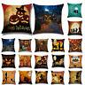 Halloween Party Linen Pillow Case Sofa Bed Waist Throw Cushion Cover Home Decor