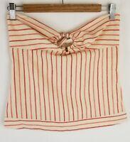 Lauren Moffatt Womens Red Ivory Stripe Top Size Small Tankini