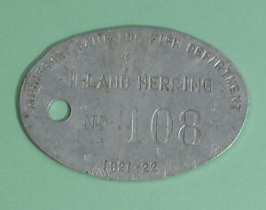 1921 Minnesota Fish & Game Inland Herring Set Line Fishing Net Trap Tag